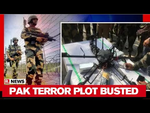 j&k:-bsf-shoots-down-pakistan-spy-drone-carrying-weapons-in-kathua