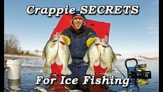 Crappie SECRETS Ice Fishing - Minnows and Wax Worms