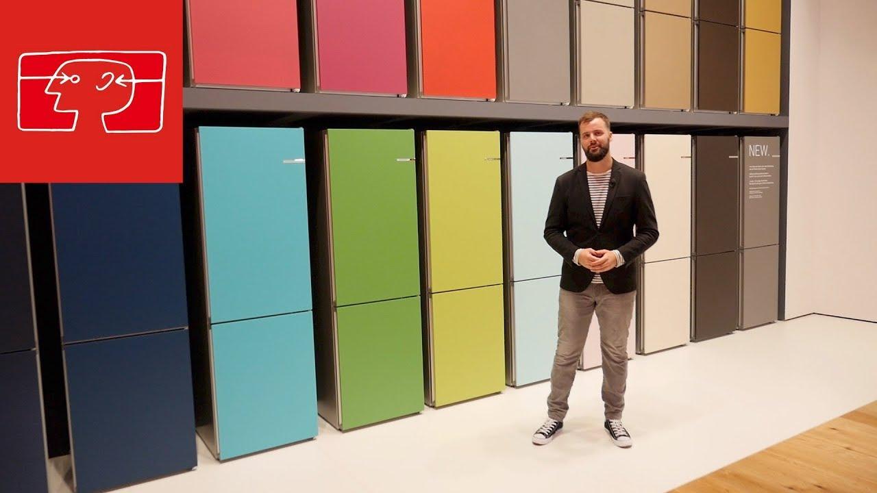 Bosch Cooler Kühlschrank : Vario style kühlschrank von bosch mit austausch front youtube