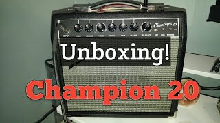Fender Champion 20 Unboxing!