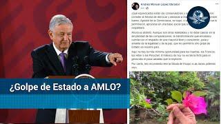 AMLO: Mayoría me respalda y no permitirá un golpe de Estado