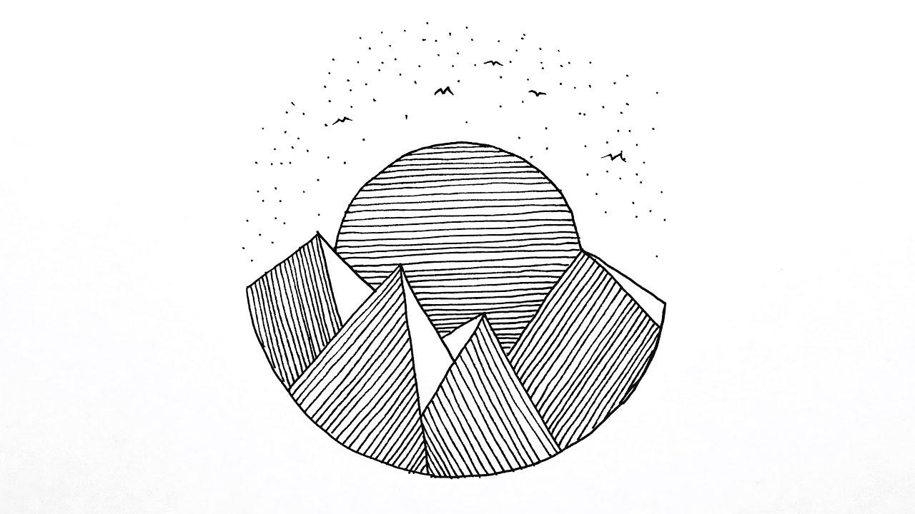 Zentangle Çizimi Kolay - Zentangle Manzara Çizimi - Zentangle Art