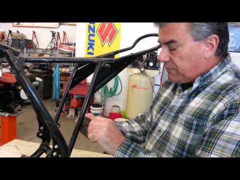 1974 75 Kawasaki KX 125 250 400 side panel mounting