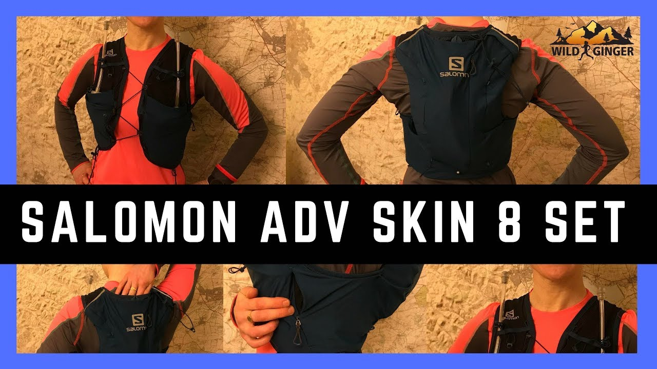 92200e4b90 Salomon Advanced Skin 8 Set review (NEW for 2019) PLUS ladies-fit & compare  with older & men's packs - YouTube