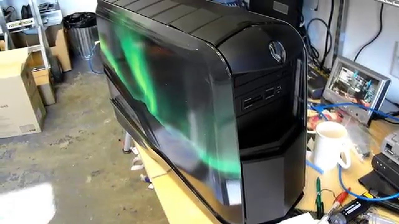 How To Open Alienware Aurora 2012 Side Panel - Tech Lab Tutorial