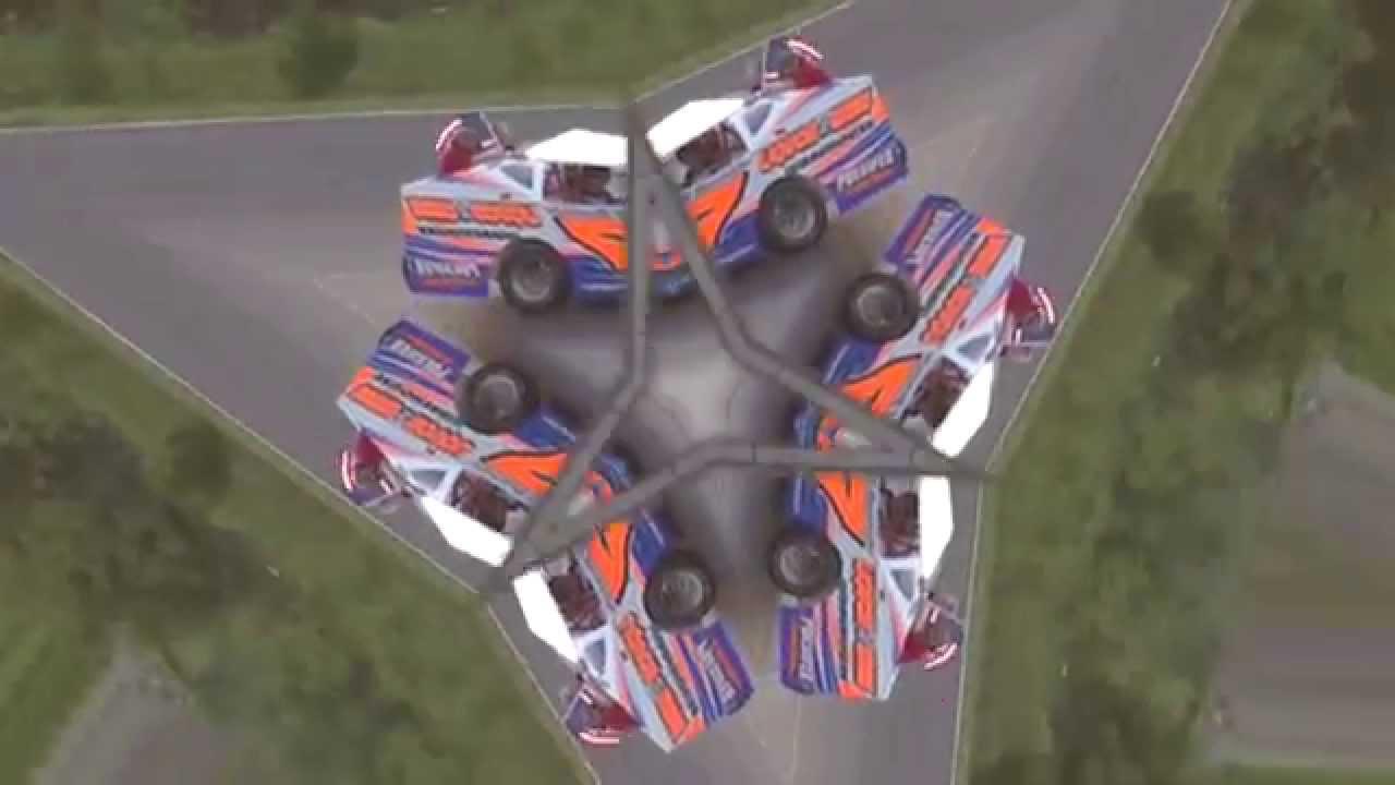 Airborne Park Speedway Go Kart & Auto Racing Crash Video 2015 - YouTube
