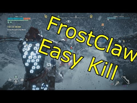 Horizon Zero Dawn - Frozen Wilds - FROST CLAW(BEAR) EASY KILL (Hard Mode, Bow Only)