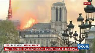 BREAKING:  Notre Dame Cathedral in Paris, France on fire