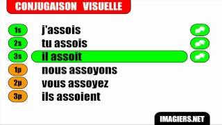 FRANÇAIS LANGUE ÉTRANGÈRE = Conjugaison = Asseoir = Indicatif Présent