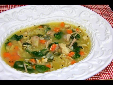 Quick turkey rice soup gluten free caribbeanpot youtube forumfinder Choice Image