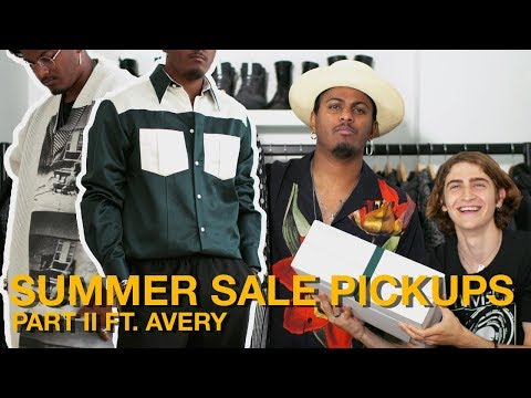 MASSIVE SUMMER SALE PICKUPS FT. AVERY SSENSE & CALVIN KLEIN