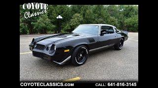 Black on Black 1979 Camaro Z28 for Sale at Coyote Classics