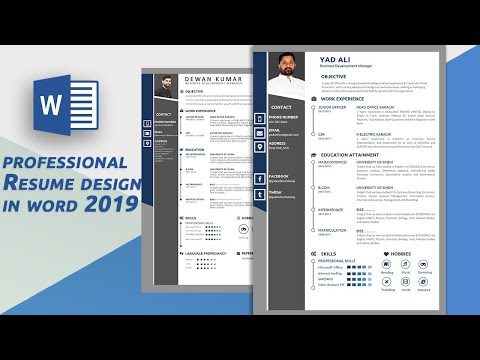 How To Design A Professional Resume In Ms Word 2019