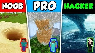 Minecraft NOOB vs PRO vs HACKER : NATURAL DISASTER SURVIVAL CHALLENGE in Minecraft Animation!