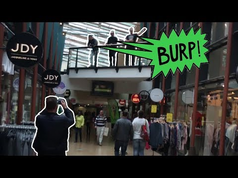 Extreme Burping In Public 9 With Friends / Terrorising The Shopping Mall