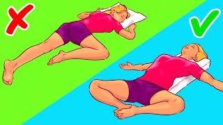 6 Posturas que te ayudarán a quedarte dormido en 10 segundos