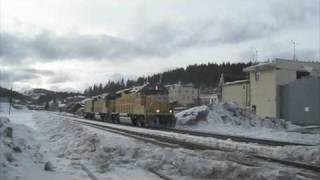 Union Pacific snow fighters in Truckee, California