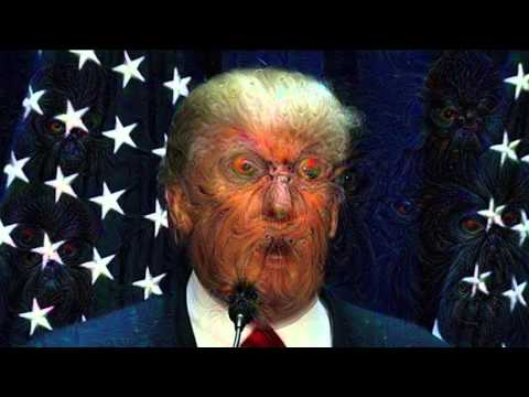 Trump Deep Nightmare: Google's Deep Dream A.I. run against a Donald Trump speech