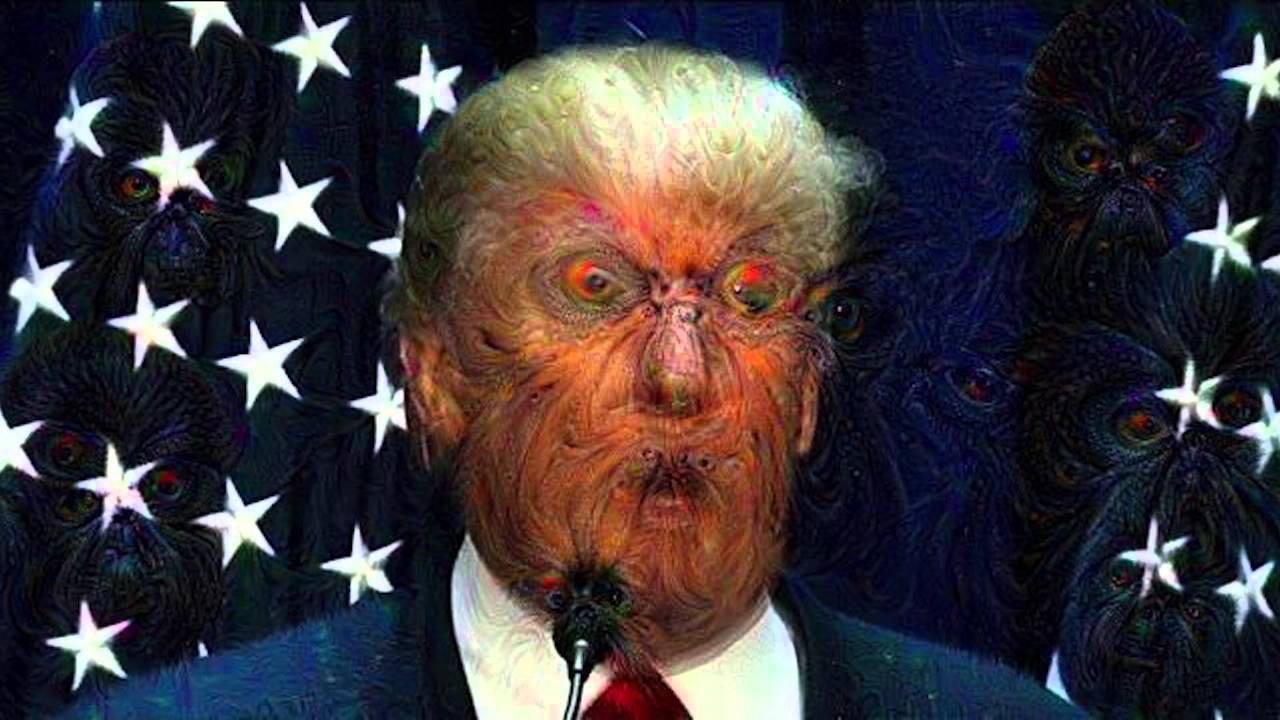 ... Google's Deep Dream A.I. run against a Donald Trump speech - YouTube
