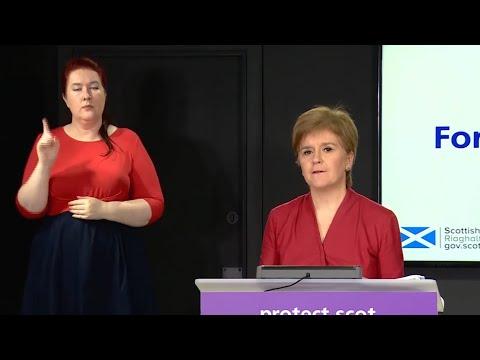 Nicola Sturgeon outlines 5-tier lockdown restrictions for Scotland | Coronavirus