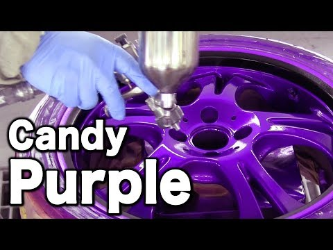 How To Paint Your Car Wheels Candy Purple Black カスタムペイント キャンディー塗装 Duration 7 32 Warriorz777 29 901 Views