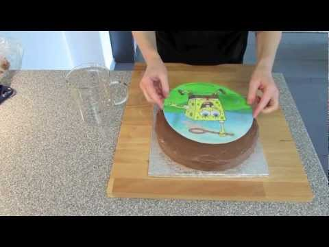 spongebob kuchen backen