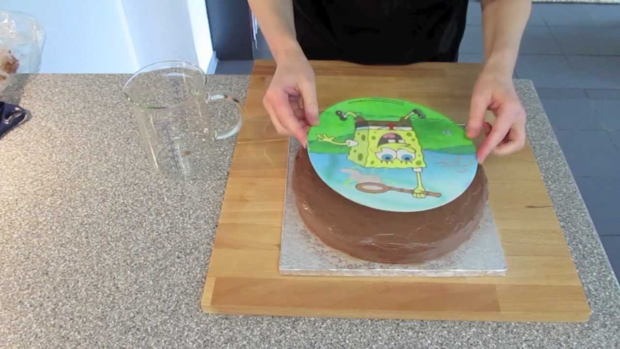 Sweets For My Sweet Spongebob Kuchen Mit Schokobuttercreme Youtube