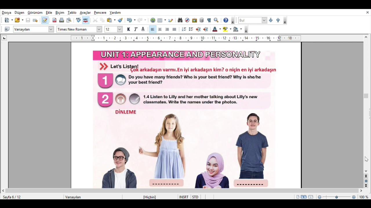 Meb 7sınıf Ingilizce Ders Kitabı Cevapları 2018 2019 Youtube