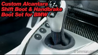 Custom Alcantara Shift Boot And Handbrake Boot Set For Bmw