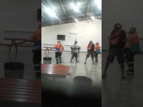 2016..Xmas celebrate..spuck man dance