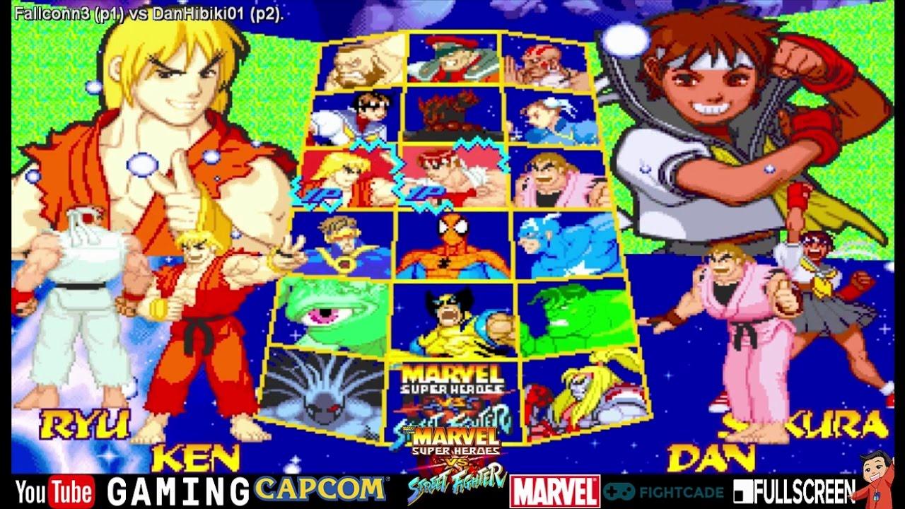 Fightcade Fallconn3 Vs Danhibiki01 Marvel Super Heroes Vs Street Fighter Online Casuals Youtube