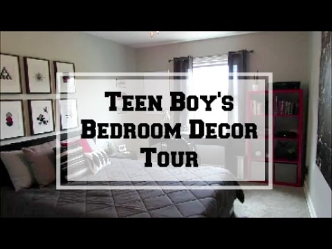 Teen Boy\'s Bedroom Decor Tour - YouTube