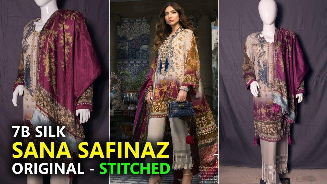 24e21e07f5 Sana Safinaz Summer Collection 2019 - Stitch 07 Silk Chiffon - Sara Clothes  Dresses