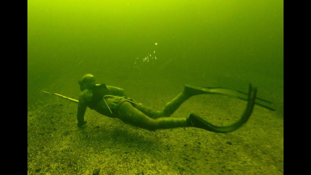 Подводная охота с Лубягиным Максимом в Волгограде.