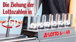 Die Ziehung der Lottozahlen vom 25.04.2020 in 360 Grad