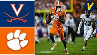 2019 ACC Championship #23 Virginia vs #3 Clemson Highlights