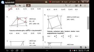 KARE 2 (Karekök YKS 2. Oturum Geometri Soru Bankası) (test 4-5-6)
