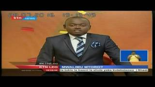 KTN Leo Full Bulletin 28th July 2016 - Mwalimu Mtoro