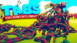 Snakes Destroy Everything in Totally Accurate Battle Simulator (TABS)