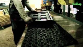 видео Оборудование для производства резиновой плитки