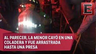 Hallan sin vida a niña arrastrada por corriente en la Álvaro Obregón
