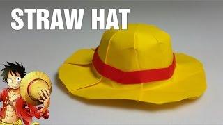 Paper Hat - Origami Straw Hat (Mugiwara) tutorial - DIY (Henry Phạm)