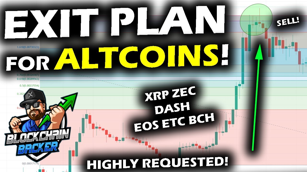 EXIT PLAN for the ALTCOIN MARKET and the Bitcoin Price Chart with XRP ZEC DASH EOS ETC and BCH