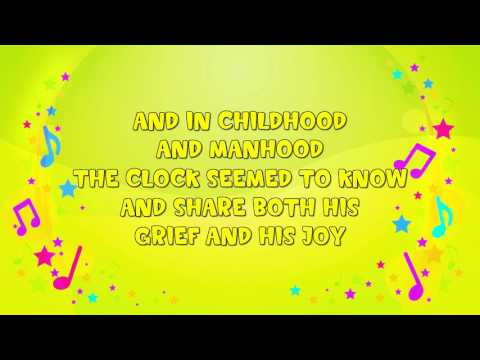 My Grandfather's Clock | Karaoke | Nursery Rhyme | KiddieOK