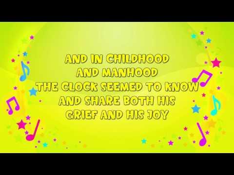 My Grandfather's Clock | Karaoke | Nursery Rhyme | KiddieOK
