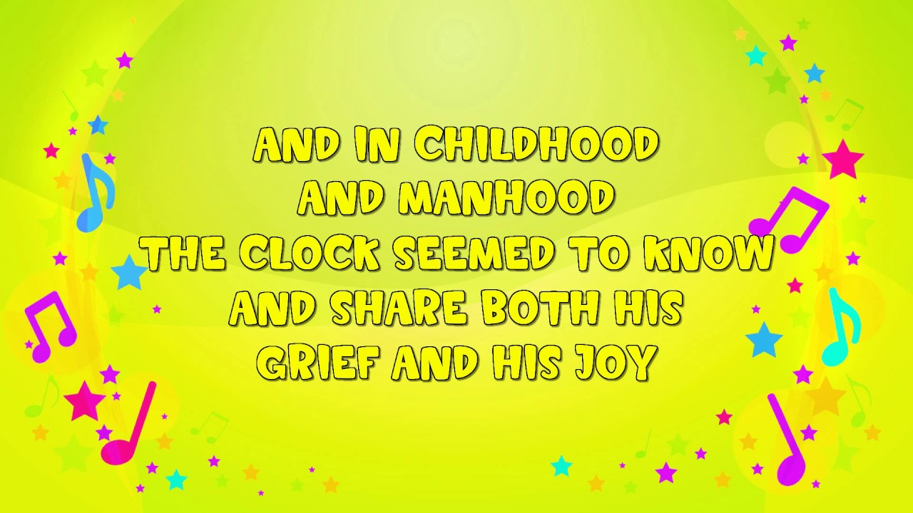 My Grandfatheru0027s Clock | Karaoke | Nursery Rhyme | KiddieOK