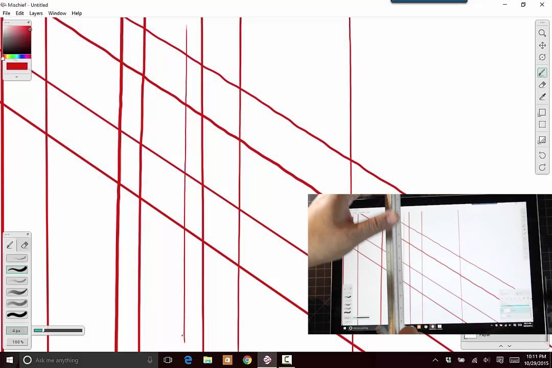 Drawing Lines In Onenote : Surface pro stylus quot jitter test youtube