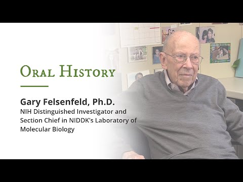 Oral History: Dr. Gary Felsenfeld, Distinguished Investigator; NIDDK Molecular Biology Section Chief