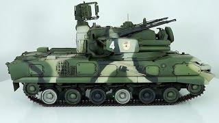 обзор масштабная модель бронетехника ЗРПК 2С6М тунгуска 1:35 (panda) / Modelling