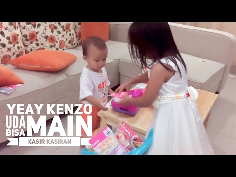 Zara ajari Kenzo bermain Mesin Kasir Kasiran | Mainan Anak Anak | video anak pintar